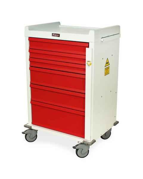 MRI Emergency Cart 6 Drawer - Standard Package with Breakaway Lock
