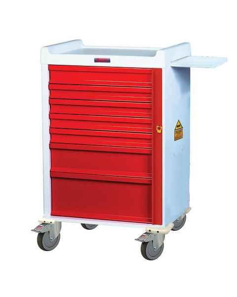 MRI Emergency Cart 7 Drawer - Standard Package with Breakaway Lock
