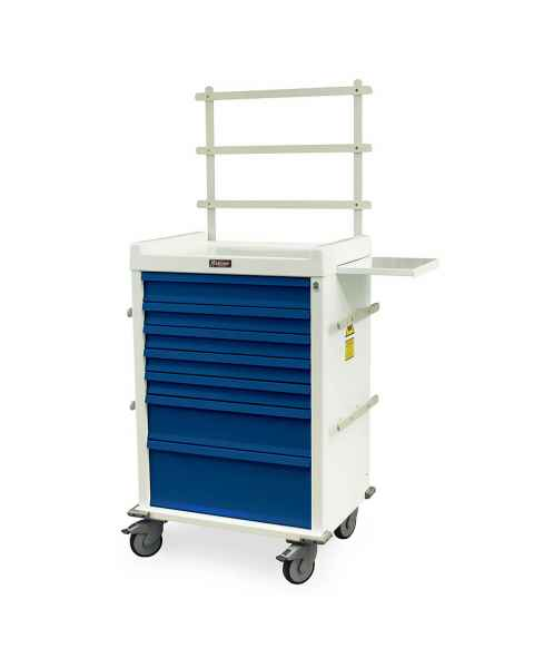 MRI Anesthesia Cart 7 Drawer with Key Lock - Specialty Package