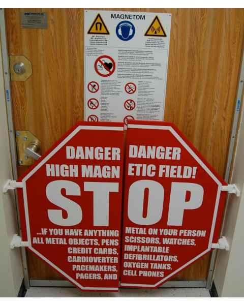 MRI Door Frame STOP Sign