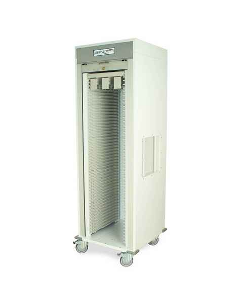Harloff MSPM81-00TK Medstor Max Single Column Medical Storage Cart with Tambour Door, Key Lock (PLEASE NOTE, catheter slide shelf is NOT included)