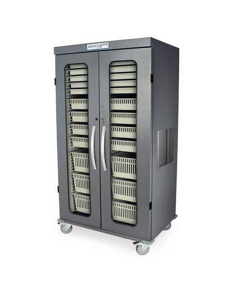 Harloff MSPM82-00GK Medstor Max Double Column Medical Storage Cabinet with Glass Doors, Key Lock (PLEASE NOTE, trays/baskets are NOT included)