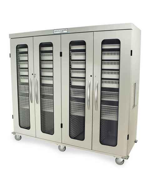 Harloff Medstor Max Quad Column Medical Storage Cabinet with Glass Doors, Key Lock