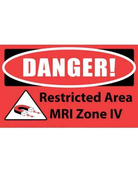 """DANGER! Restricted Area MRI Zone IV"" MRI Non-Magnetic Carpet Sign"