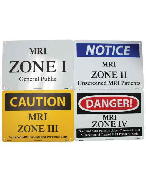 MRI Zone Signs - Set of 4