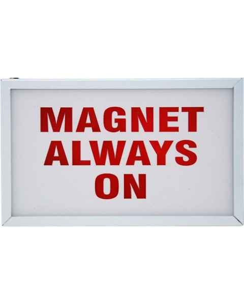 """Magnet Always On"" Light-Up Wall Sign"
