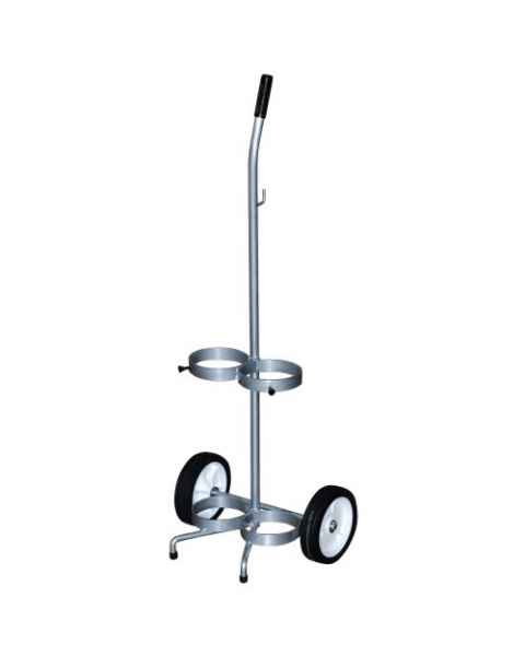 MRI Non-Magnetic Oxygen Cart for 2 Cylinders