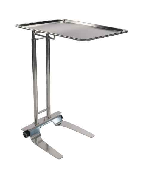 "Pedigo P-1065-SS Stainless Steel Foot-Operated Mayo Stand With 20"" x 25"" Tray"