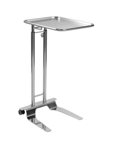 "Pedigo P-1066-A-SS Stainless Steel Hand Operated Mayo Stand With 16.25"" x 21.25"" Tray"