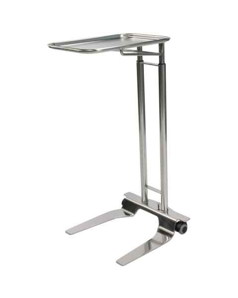 "Pedigo P-1068-SS Stainless Steel Foot Operated Mayo Stand With 12 5/8"" x 19 1/8"" Tray"