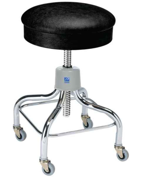 Pedigo Adjustable Chrome Exam Stool With Casters