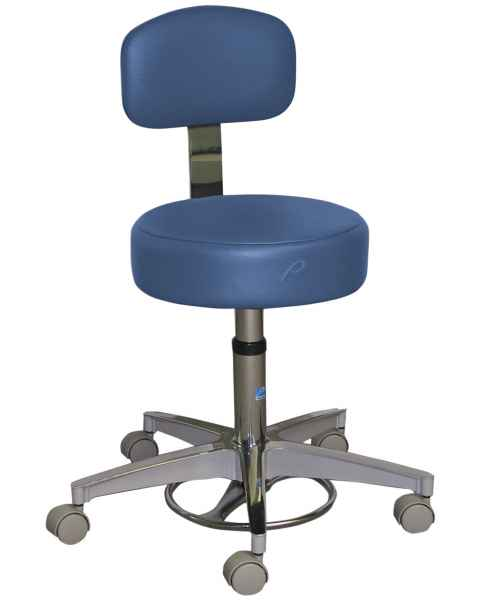 Pedigo Foot Operated Pneumatic Stool With Backrest
