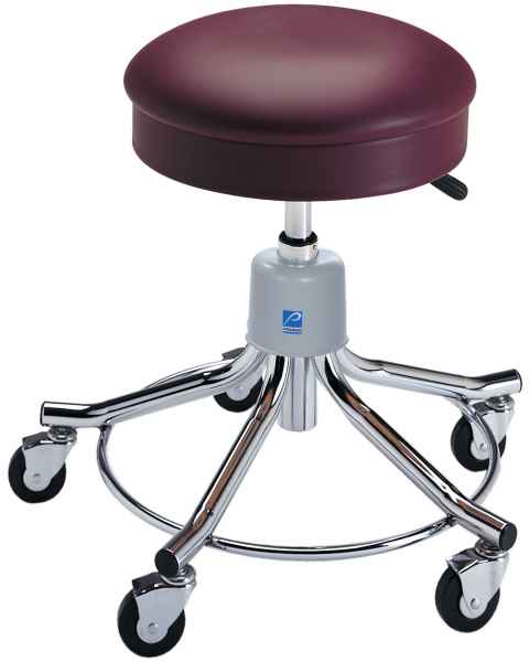 Pedigo Hand Pneumatic Height Adjustment and Chrome Base Exam Stools