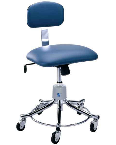 Pedigo Pneumatic Height Adjustment Stool with Backrest