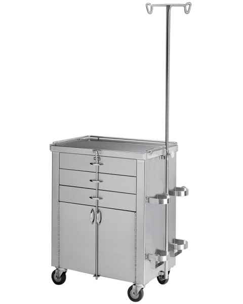 Pedigo Stainless Steel Cardiac and Anesthetist Cabinet