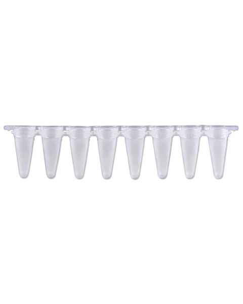 P3801-Q PureAmp 0.1mL Low Profile qPCR Natural/Clear 8-Tube Strips with Separate Optical Cap Strips