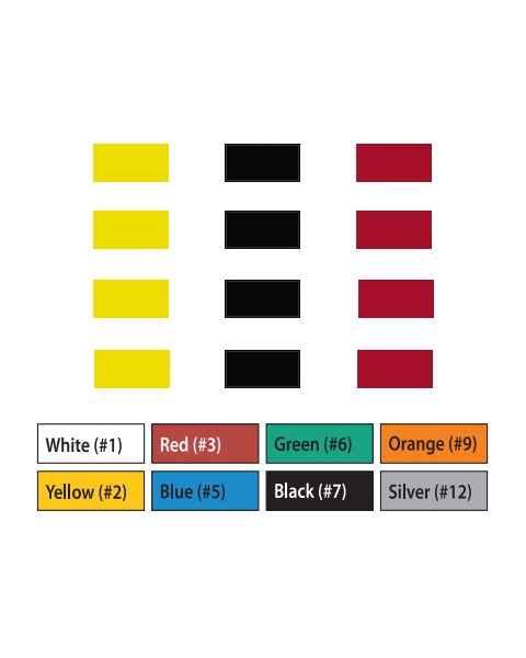 "Pre-Cut Magna Ribbon Strips - 3/8""H x 1""L"