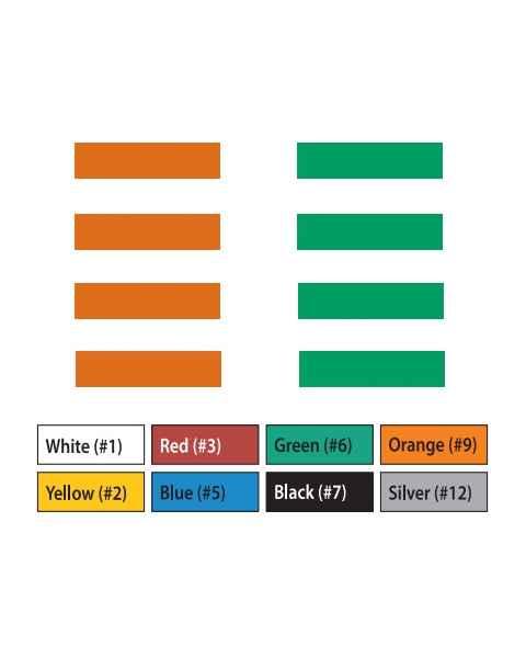 "Pre-Cut Magna Ribbon Strips - 3/8""H x 2""L"