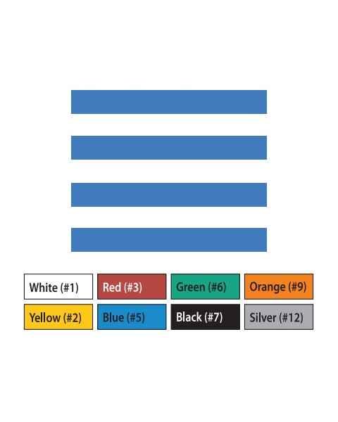"Pre-Cut Magna Ribbon Strips - 3/8""H x 4""L"