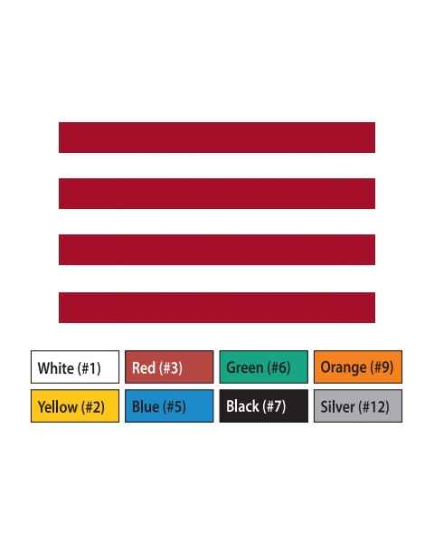 "Pre-Cut Magna Ribbon Strips - 3/8""H x 5""L"