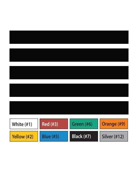 "Pre-Cut Magna Ribbon Strips - 1/2""H x 6""L"