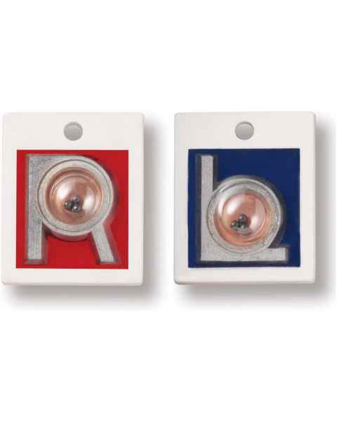 "Plastic Position Indicator Markers - 7/8"" ""L"" & ""R"" Without Initials - Vertical"