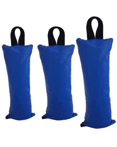 "Pediatric Sandbag: 3 lbs - Size 5"" x 9"", 5 lbs - Size 7"" x 9"", and 7 lbs - Size 6"" x 14"""