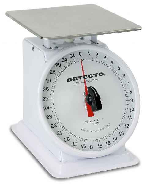 Top Loading Rotating Dial Scale Enamel Finish 32 Oz Capacity