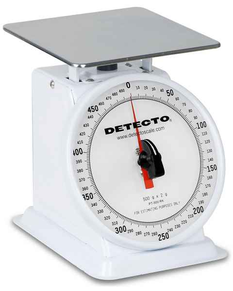 Top Loading Rotating Dial Scale Enamel Finish 500 Gram Capacity