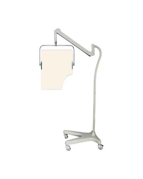 Model PTO-001 Square Arm Overhead Lead Acrylic Mobile Barrier with Torso Cutout