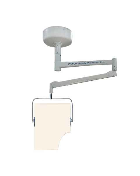 Model PTO-006 Ceiling Mounted Overhead Lead Acrylic Barrier with Torso Cutout