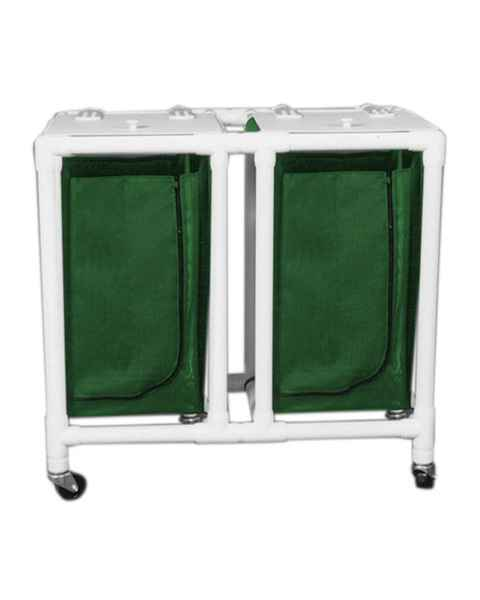 MRI-Conditional Double PVC Hamper Cart with Mesh 28 Gallon Bag