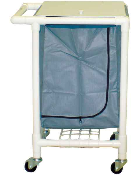 MRI-Conditional Single PVC Hamper Cart - Large Capacity