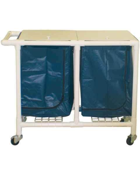 MRI-Conditional Double PVC Hamper Cart - Large Capacity
