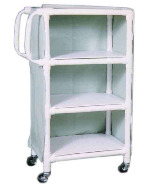 "MR-Conditional 3-Shelf Linen Cart - 20""W x 33""L x 51.25""H"