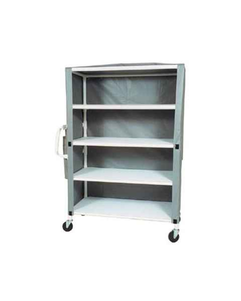 "MR-Conditional 4-Shelf Linen Cart - 24""W x 58""L x 77""H"