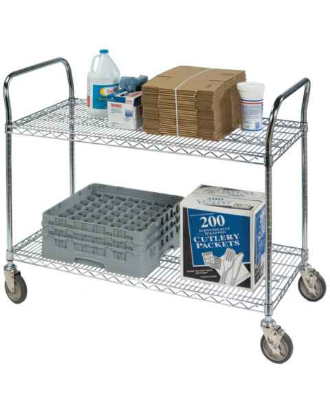Heavy Duty Wire Shelf Utility Carts