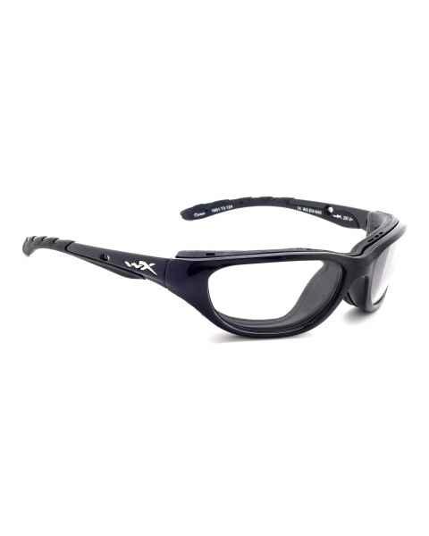 Airrage Wiley-X Nylon Wrap Around Radiation Glasses - Gloss Black 696F