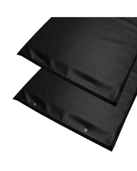 """Standard Plus Radiolucent X-Ray Table Pad - Black Vinyl 80"""" L x 30"""" W"""
