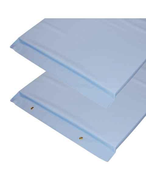 "Economy Standard Radiolucent X-Ray Table Pad - Light Blue Vinyl 72"" L x 23.25"" W"