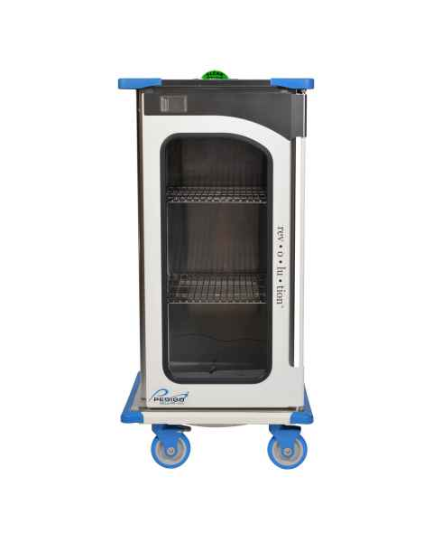 "Pedigo RCC-233-B Revolution Closed Surgical Case Cart with Single Door - 29""W x 27.5""D x 59""H"