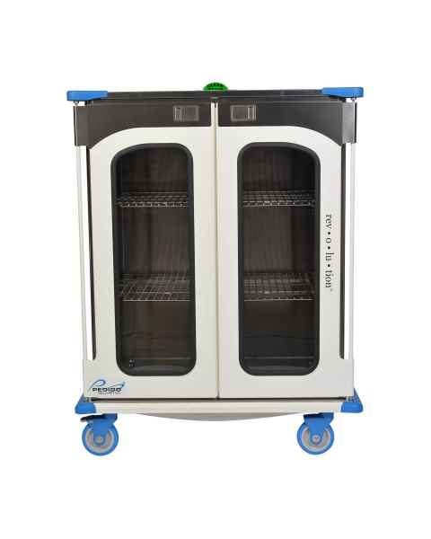 "Pedigo RCC-245-B Revolution Closed Surgical Case Cart with Double Door - 46.25""W x 27.5""D x 59""H"