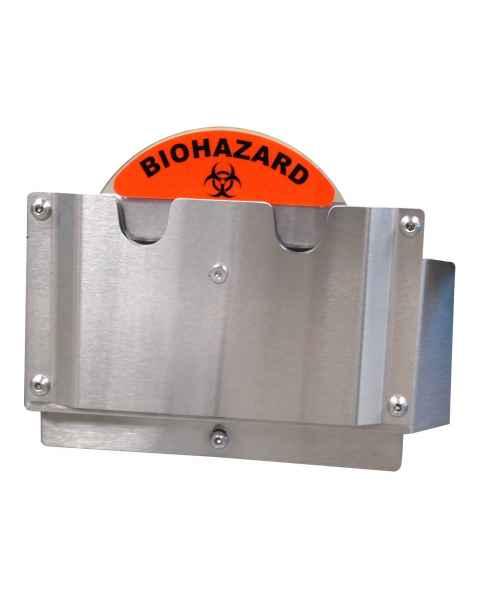 Pedigo RCC-BH Biohazard/Clean ID Wheel for Revolution Case Carts - Biohazard Label Position