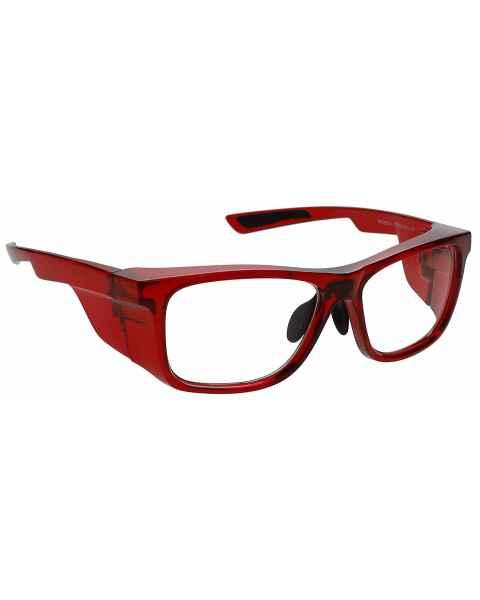 Model 15011 Plastic Frame Radiation Glasses - Crystal Red
