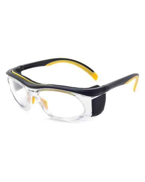 Model 206 Economy Radiation Glasses - Yellow/Black Clear