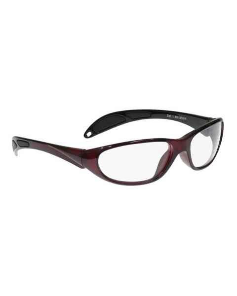 Model 208 Ultralite Wrap Lead Glasses - Red