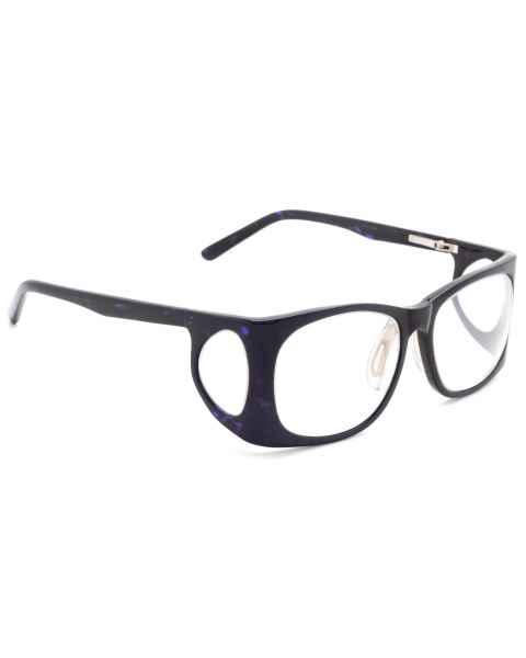 RG-52-BKBL Plastic Wrap Radiation Glasses Model 52 - Black/Blue