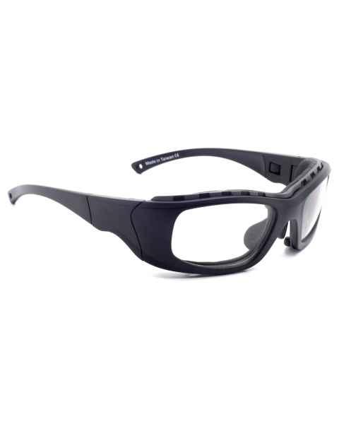 Model JY7 Wrap Around Radiation Glasses - Black