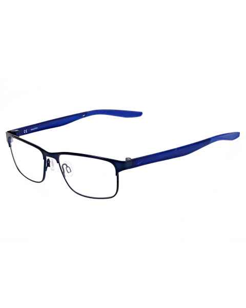 Nike 8130 Radiation Glasses Satin Navy Racer Blue 416 - Frame Size 56-16-140