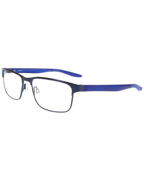 Nike 8130 Radiation Glasses Satin Navy Racer Blue 416 - Frame Size 56-16-140